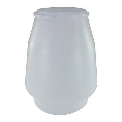 Jarre de plastique blanc