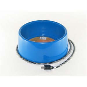 5 Liters Plastic Heated Bowl