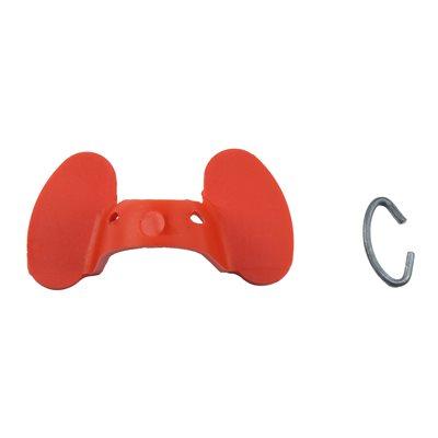 Lunettes anti-picage avec agrafe en métal