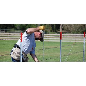 """Barbed Wire 4 points 12 ½ Ga X 1320' (Spacing 5"""")"""